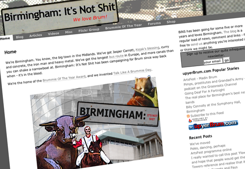 The new look Birmingham: It's Not Shit site