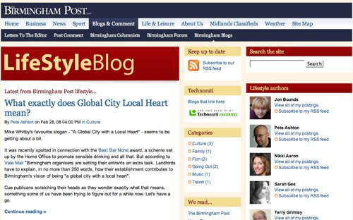 Birmingham Post - Lifestyle blogs